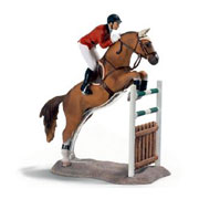 A Jumping Toy Figure Horse from Schleich