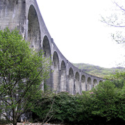 Glenfinnan Viaduct in the Scottish Highlands