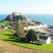 Mont Orgueil in Jersey, Channel Islands