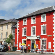 Castle Hotel and Market Street in Aberaeron