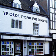Dickinson and Morris Pie Shop in Melton Mowbray