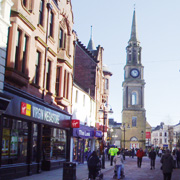 Falkirk's pedestrianised High Street