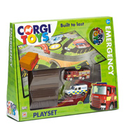 Corgi Toys Emergency Services Playset Packaging