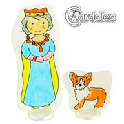 Carddies Queen and Corgi