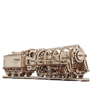 UGears Steam Locomotive and Railway Platform