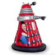 A Red Ride-In Dalek Toy
