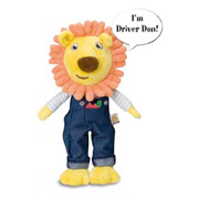 The Talking Driver Dan Soft Toy from Golden Bear