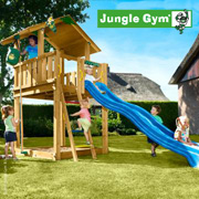 The Jungle Chalet Climbing Frame from Jungle Gym