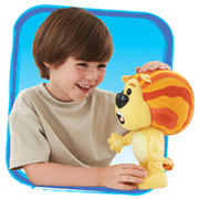 Boy with Raa Raa the Noisy Lion toy